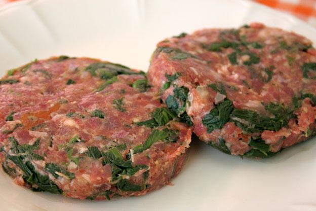 Macelleria Siracusa: hamburger agli spinaci