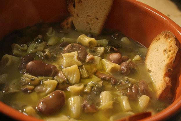 Ristorante Siracusa: maccheroni di pasta fresca alle fave